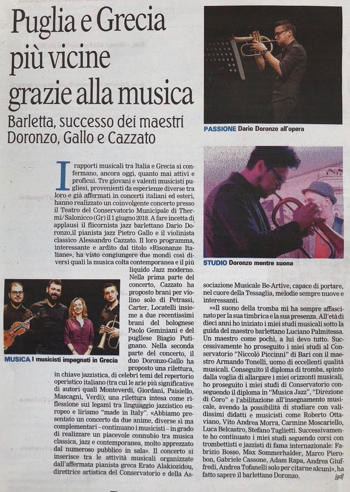 """""""Gazzetta del Mezzogiorno"""", 2018"""