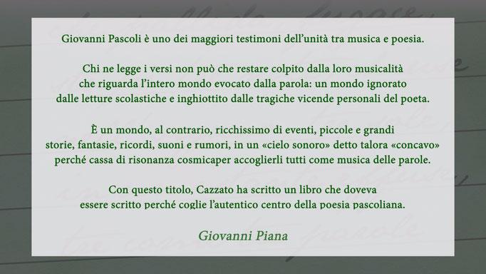"""Giovanni Piana on book """"La Musica delle Parole"""" (2018)"""