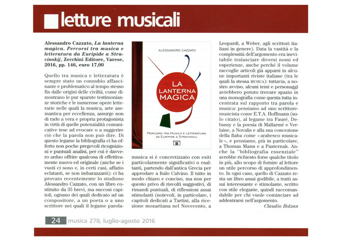 "Rivista ""Musica"", 2016"
