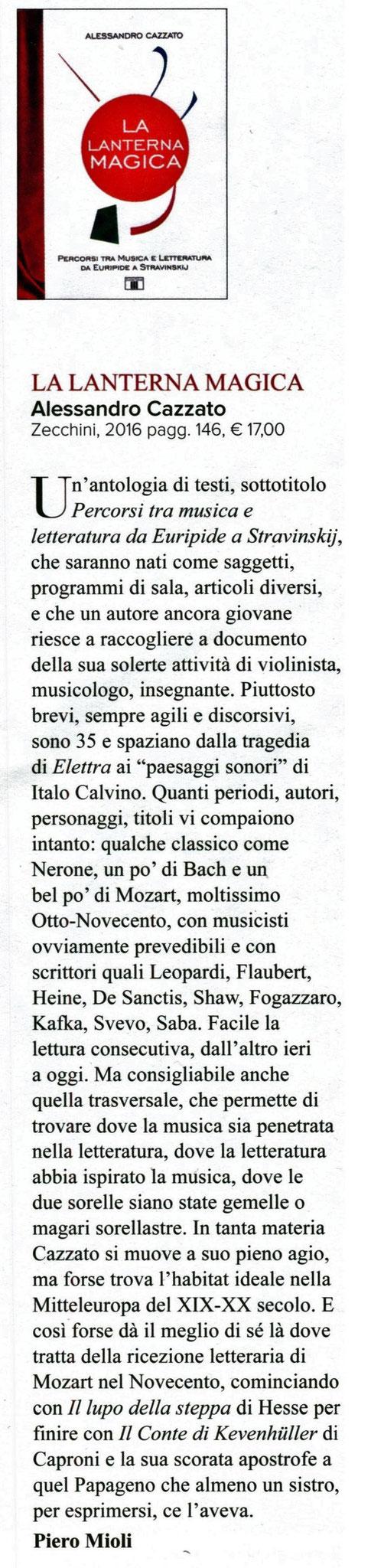 """Rivista """"Amadeus"""", 2016"""
