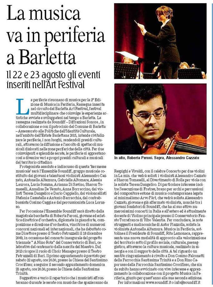"""""""Gazzetta del Mezzogiorno"""", 2016"""