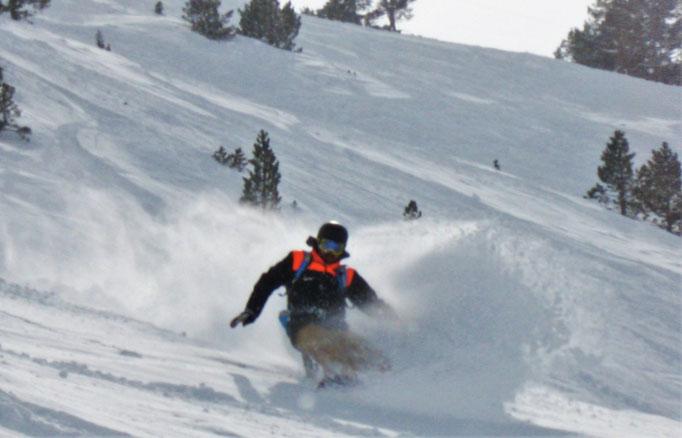 session splitboard à la Mongie bonne neige poudreuse