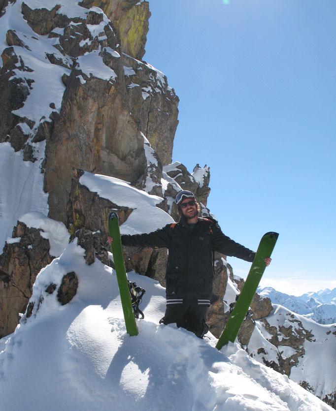 Freerando splitboard sur le domaine du Grand Tourmalet
