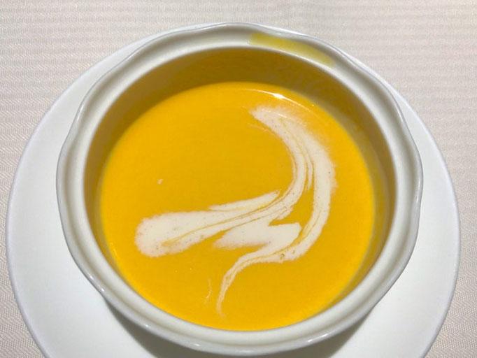 人参の冷製スープ とてもおいしかった