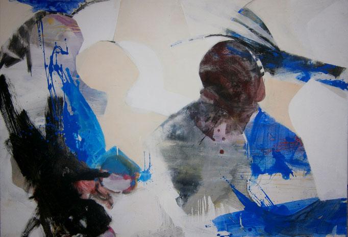 VERKAUFT  - Abstract Painting 1/10-2015 -  Acrylics on canvas 160 x 110 x 4 cm