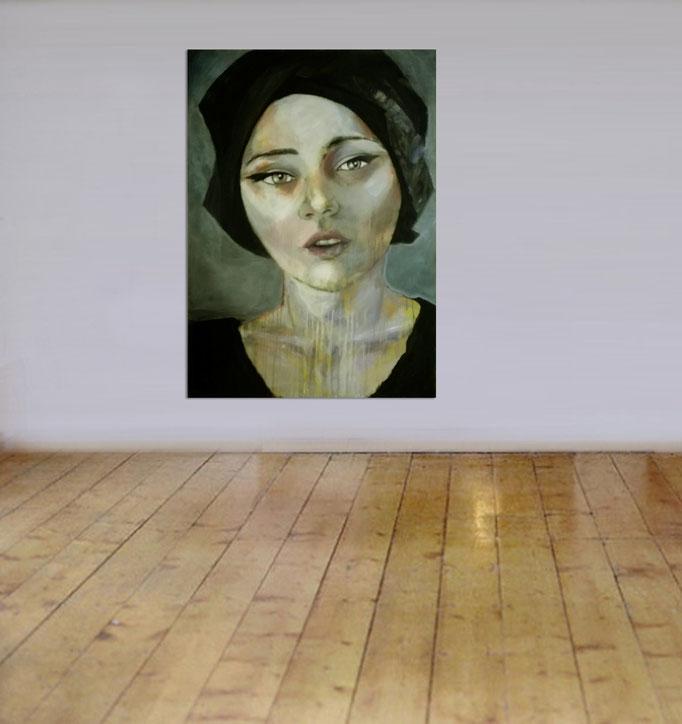 unknown model 1209/17 Acrylics on canvas 130 x 100 x 4 cm