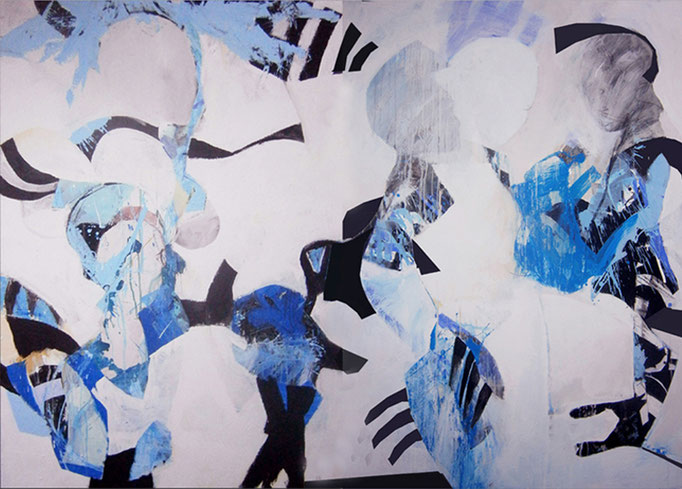 Abstract Painting with figures  511/16 - 200 x 160 cm  > SOLD <