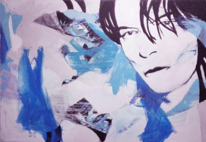 """ Dandy ratlos "" Acrylics on canvas 160 x 110 x 4 cm"