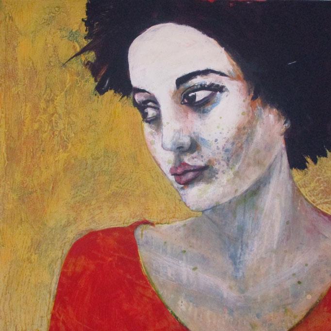 study 1803-2017 - Acrylics on canvas 90 × 90 × 4 cm