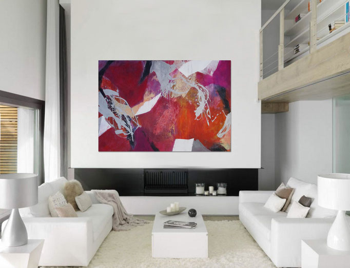 """ Abstract painting 1410/17 "" Acrylics on canvas 160 x 110 x 4 cm  > SOLD <"