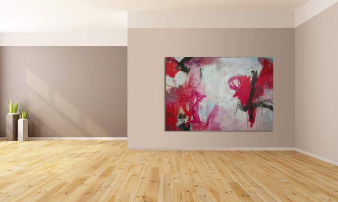 """"""" Abstract painting 0910/17 """"  Acrylics on canvas 160 x 110 x 4 cm"""