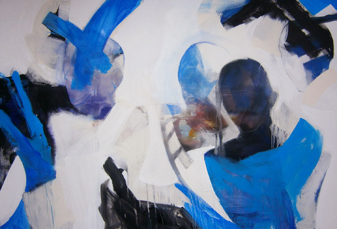 Abstract Painting with figures 2/10-2015