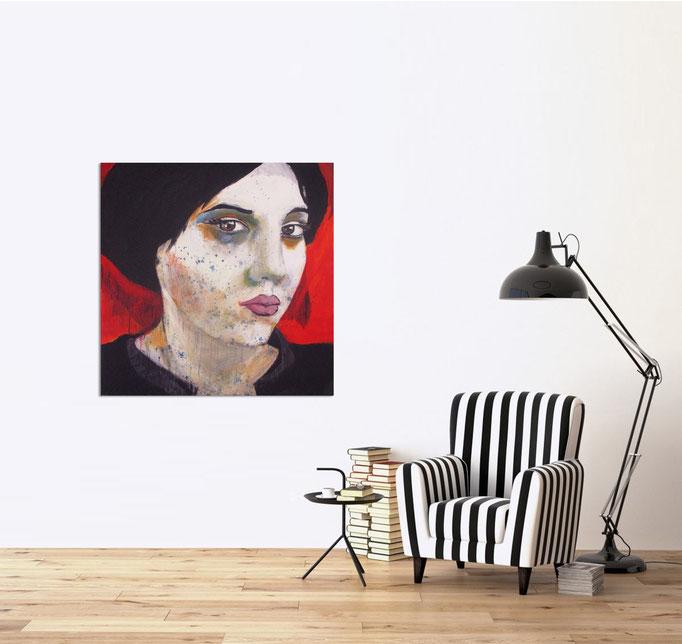 study 0403-2017 - Acrylics on canvas 100 x 100 cm