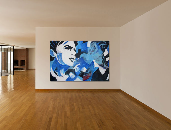 """ Dandy 1 ""  Acrylics on canvas 160 x 110 x 4 cm"