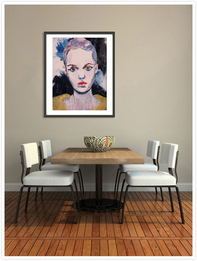 Mademoiselle de France # 46 - acrylics on paper Größe : 65 x 50 cm   > SOLD <