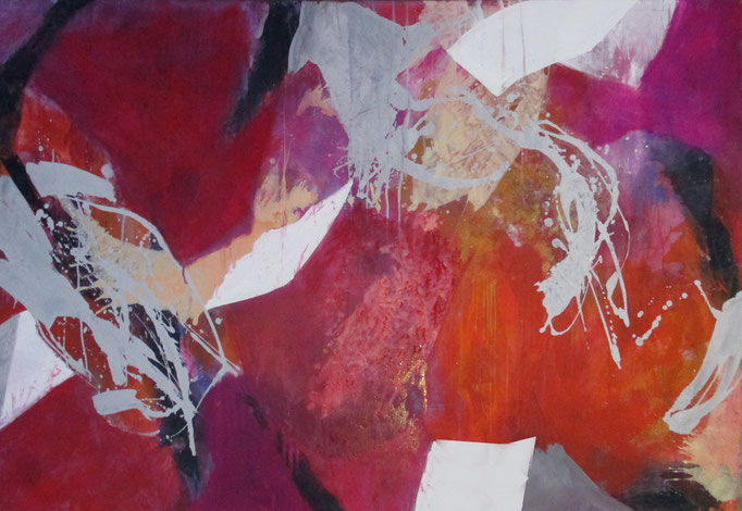 """"""" Abstract painting 1410/17 """" Acrylics on canvas 160 x 110 x 4 cm"""