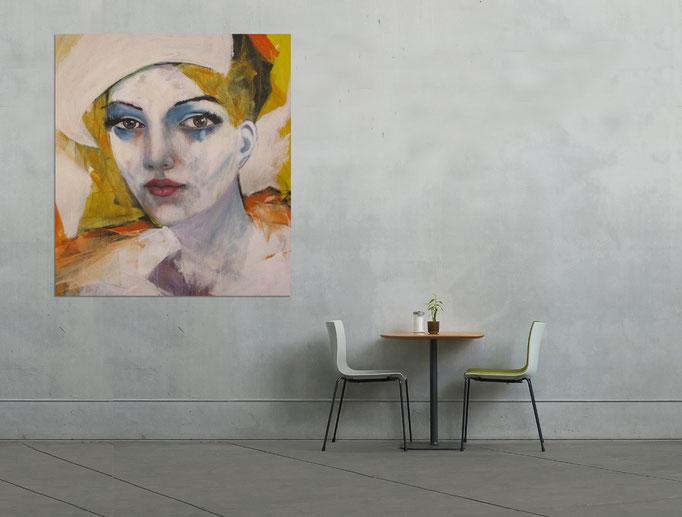 Fashion show - 0811/17   Acryl auf Leinwand 100 x 90 cm