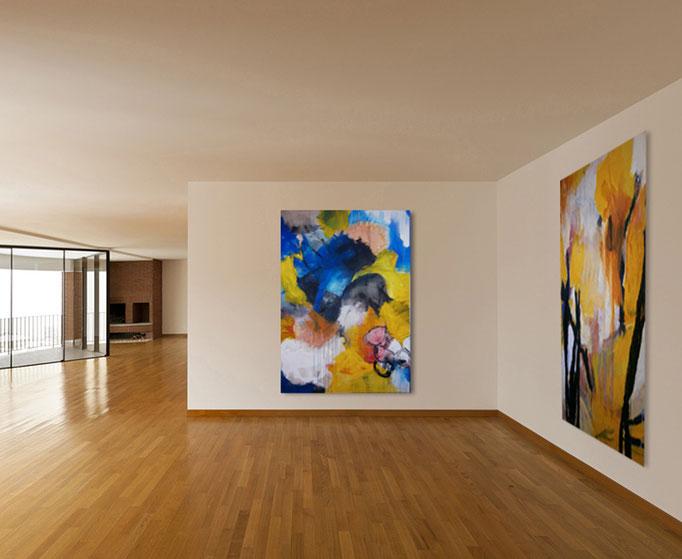 VERKAUFT Acrylics on canvas 160 x 100 x 4 cm