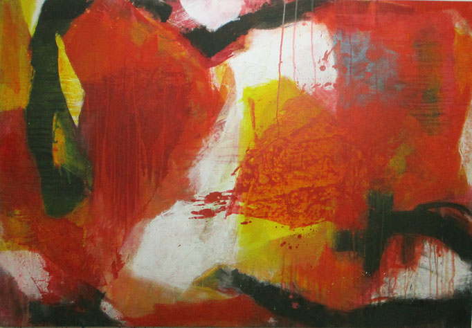 "Abstract painting 0112/17 "" Acrylics on canvas 160 x 110 x 4 cm"