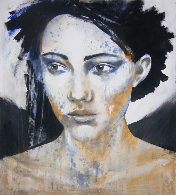 sold -- study 3011-2016 Acrylics on canvas 100 × 90 × 4 cm