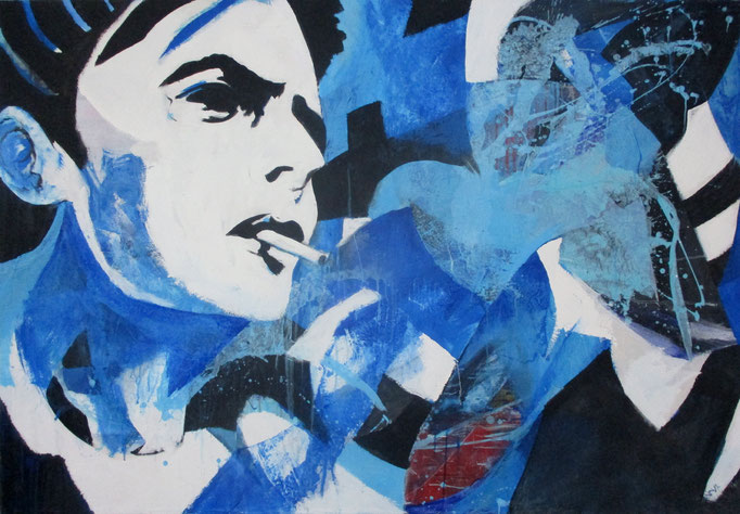 """ Dandy 1 "" Acrylics on canvas 160 x 110 x 4 cm Acrylics on canvas 160 x 110 x 4 cm"