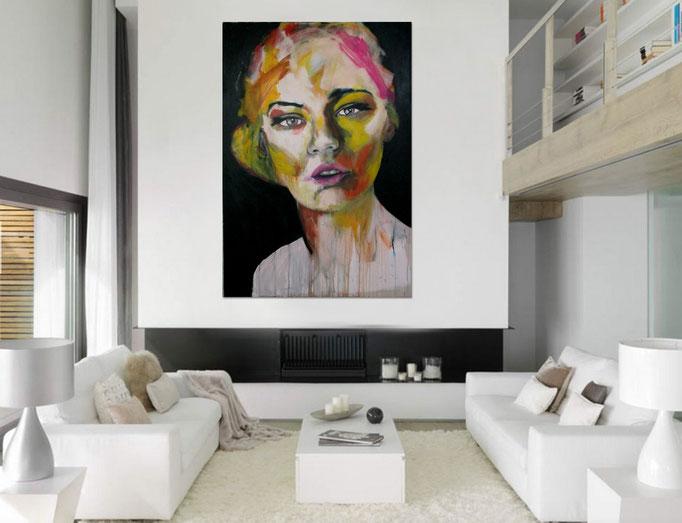 unknown model 110517 Acrylics on canvas 160 x 110 x 4 cm