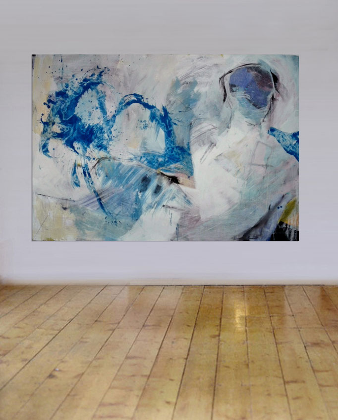 Abstract Painting with figures 07/08-2017 - sold -
