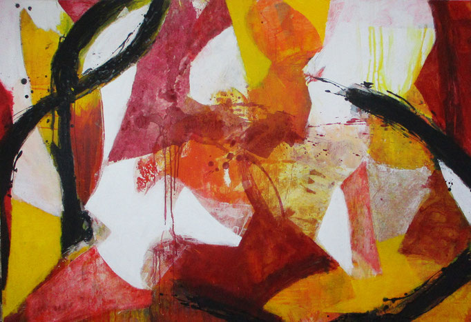 "Abstract painting 0812/17 "" Acrylics on canvas 160 x 110 x 4 cm"