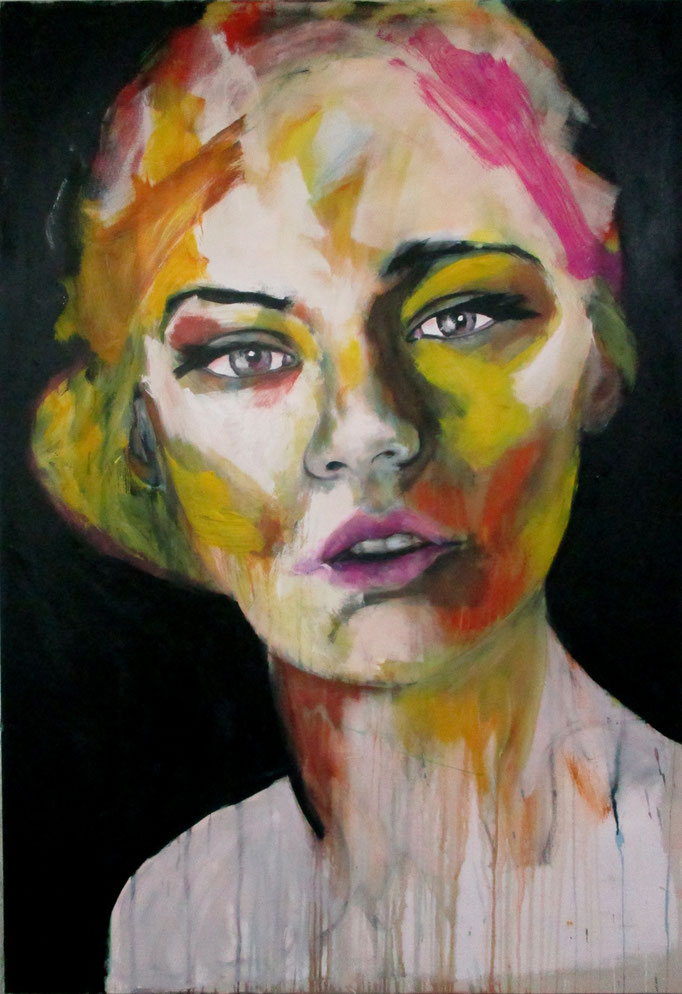 unknown model 110517 Acrylics on canvas 160 x 110 x 4 cm   > SOLD <