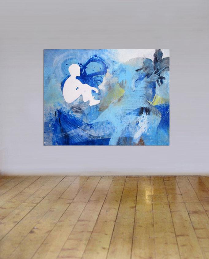 """"""" Refugees """" (2017)  130 x 100 cm  > SOLD <"""