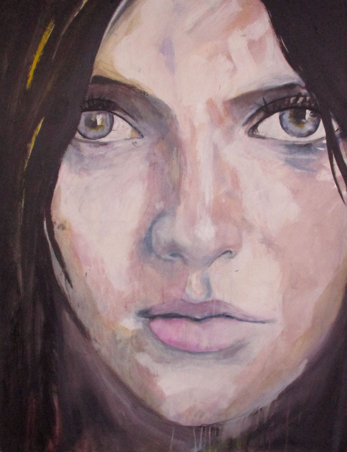 Sold -- unknown model 0905/17 Acrylics on canvas 130 x 100 x 4 cm  > SOLD <