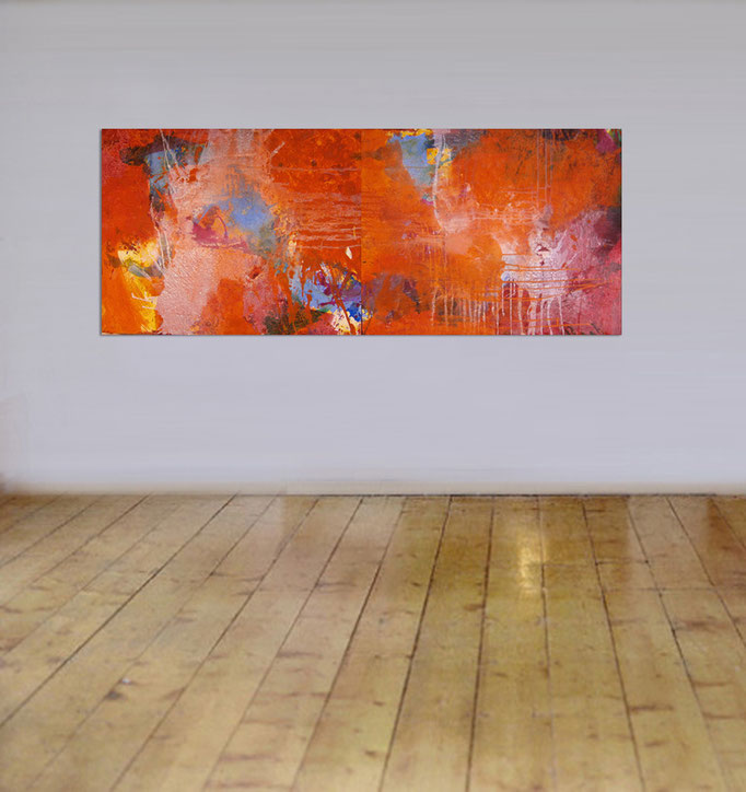 VERKAUFT  - Abstract Painting 160 x 100 cm  > SOLD <