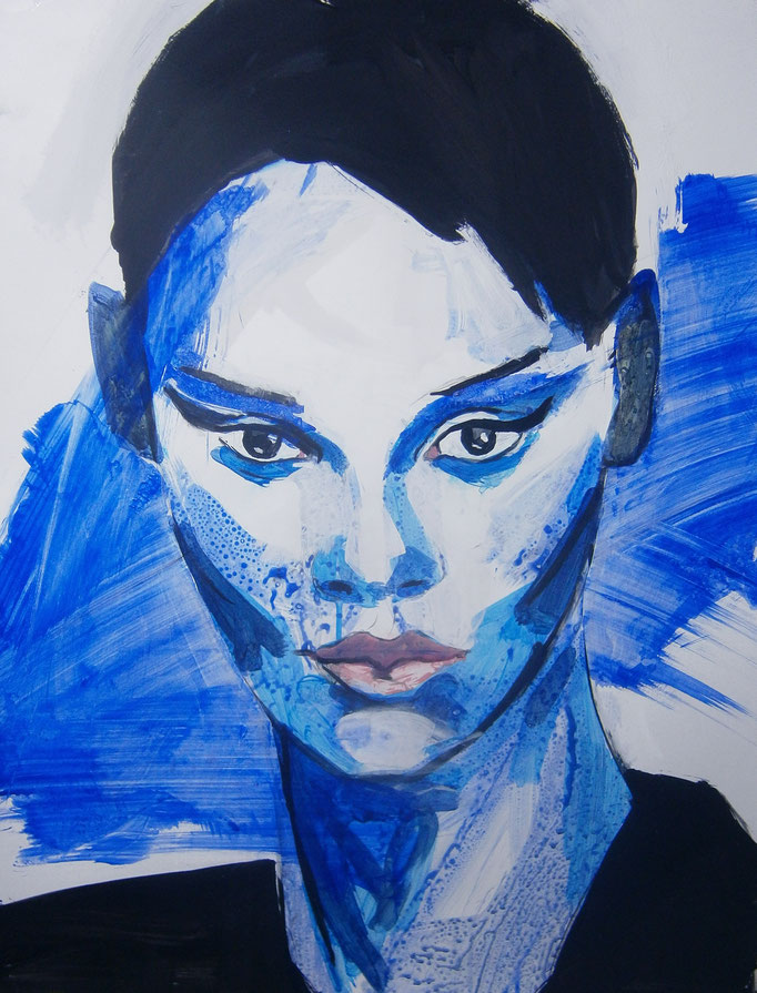 Mademoiselle de France # 41 - acrylics on paper Größe : 65 x 50 cm