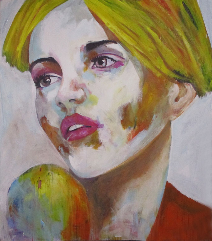 Sold -- unknown model 140517 - Acrylics on canvas 150 ×130 × 4