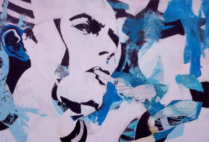 "Dandy  "" Acrylics on canvas 160 x 110 x 4 cm"