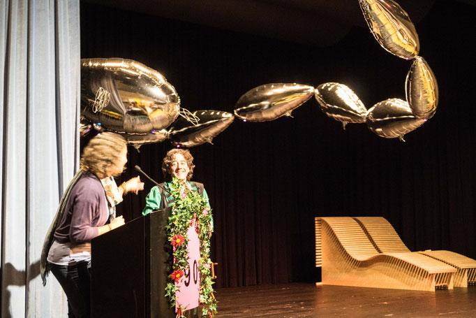 Vivien Ansermet verabschiedet Baldrian und seine Gisela.