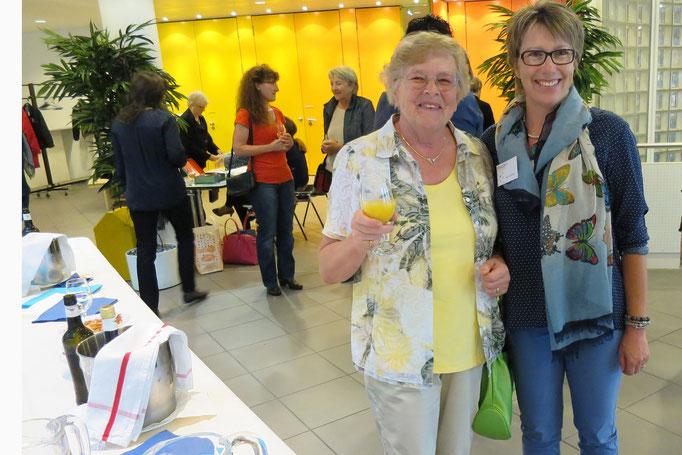 Milie Sigrist, Verantwortliche Besucherdienst Sunneziel und Tochter Alice Scherer, neues Vorstandsmitglied Frauennetz.Meggen