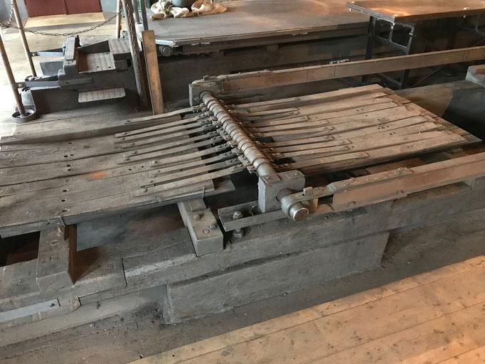 Reibeanlage zur Eisenpulverherstellung