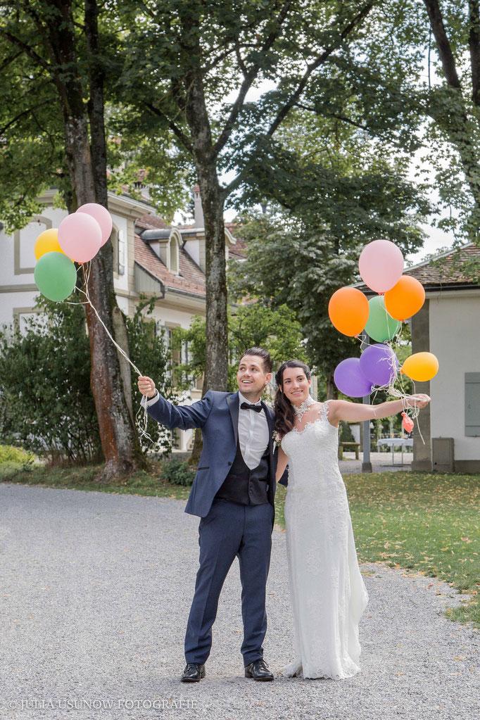 luftballone an der hochzeit in bern