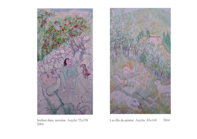 Sorbiers moraine et fils du peintre  1800€ et 1800€