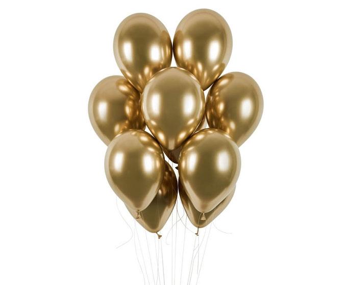 balon chromowy shiny złoty