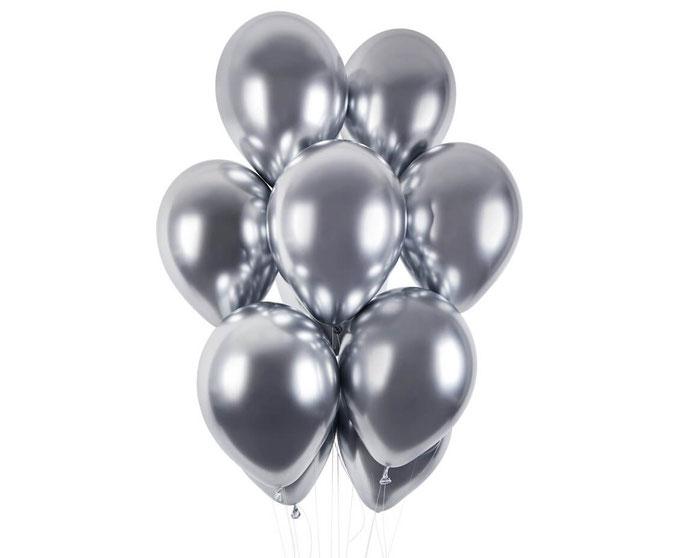 balon chromowy shiny srebrny