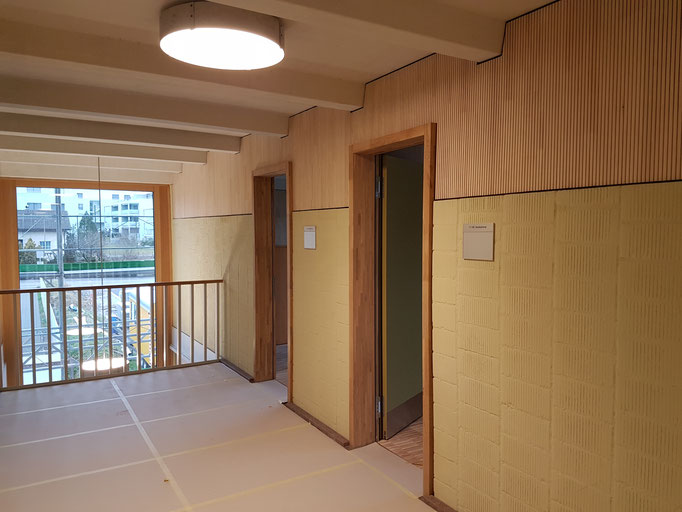 Der Schulhausflur im Obergeschoss.