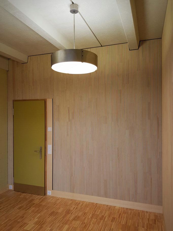 Das fertiggestellte Sitzungszimmer im Erdgeschoss.