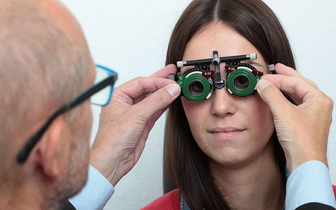 Augenglasbestimmung zur Auswahl der richtigen Brille