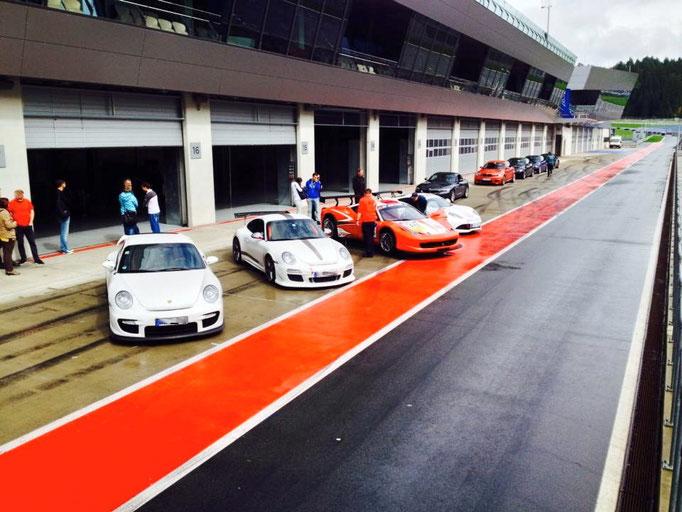Sportwagen selber fahren Red Bull Ring Spielberg A1 Ring