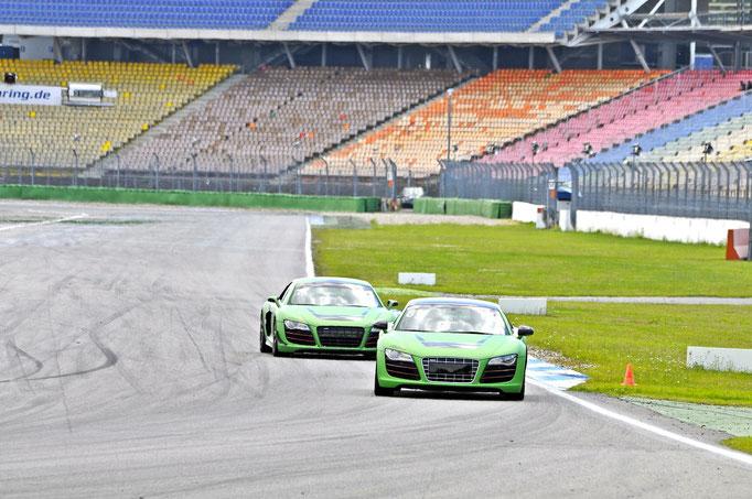 Rennwagen audi r8 sportwagen mitfahren