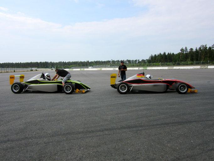 F1 Rennnwagen fahren Hockenheimring