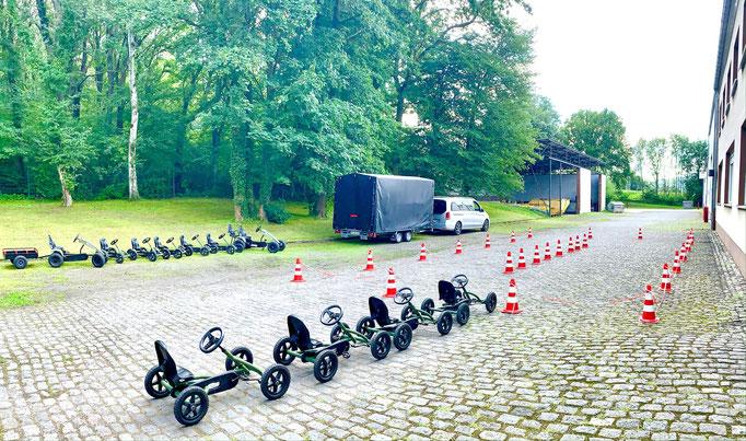 Mobile Kettcar Rennstrecke für Ihr eigenes Gelände