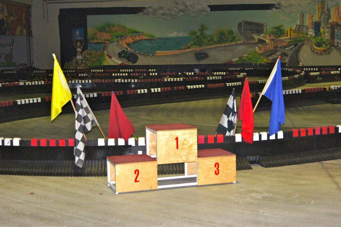 Siegerpodest mieten Motorsport Deko